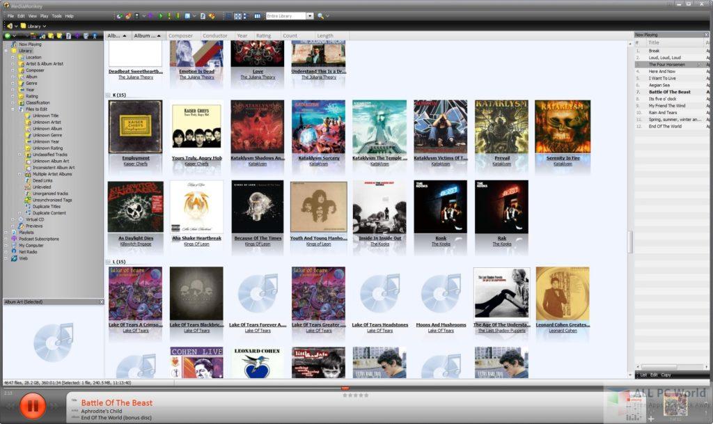 MediaMonkey Gold latest Version Free Download User interface