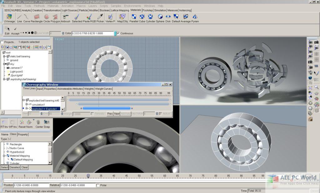Realsoft 3D user interface