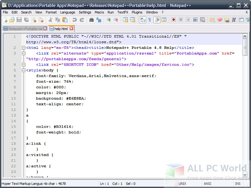 Notepad++ Portable Review