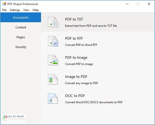 PDF Shaper Professional 10.6 Free Download