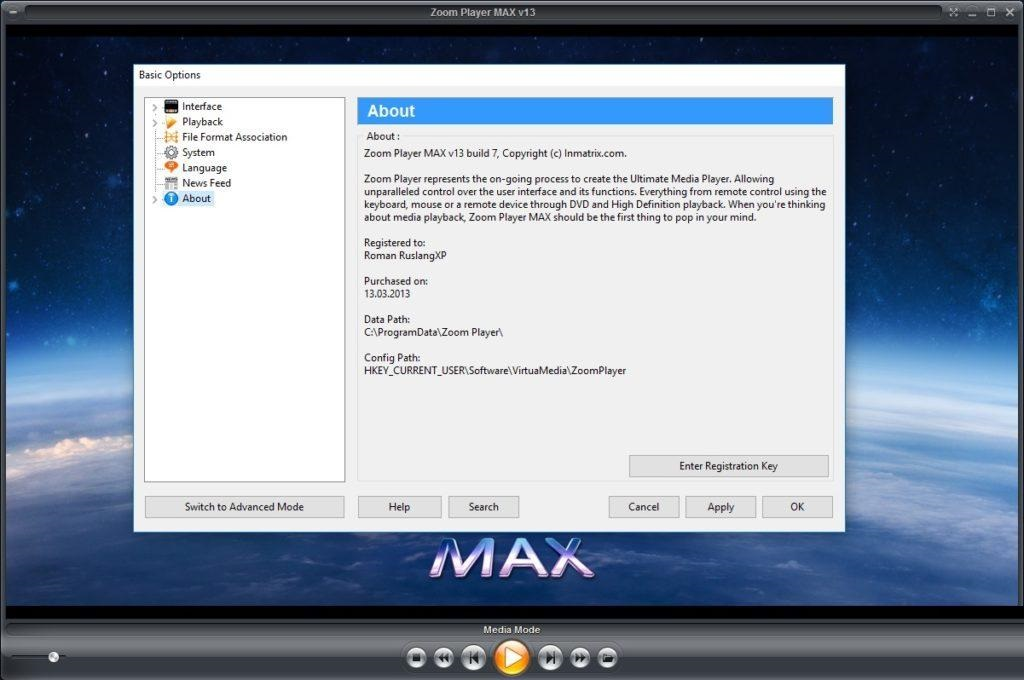 Zoom Player MAX 15.6 Free Download
