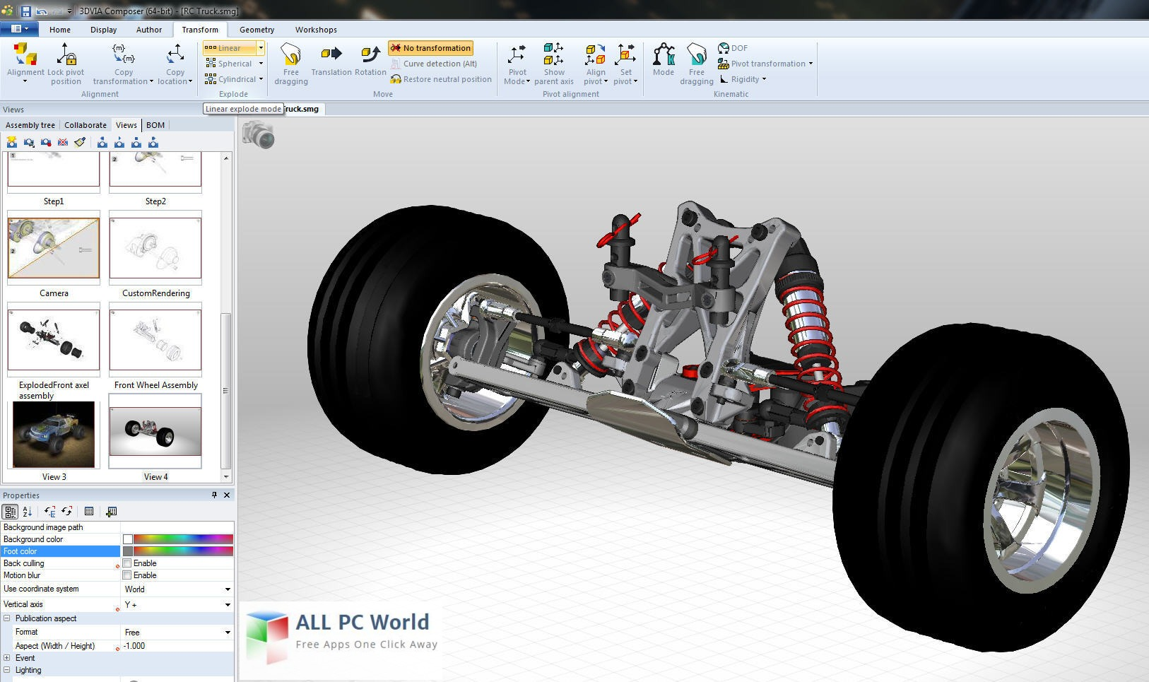 3DVIA Composer 6R2011 User Interface