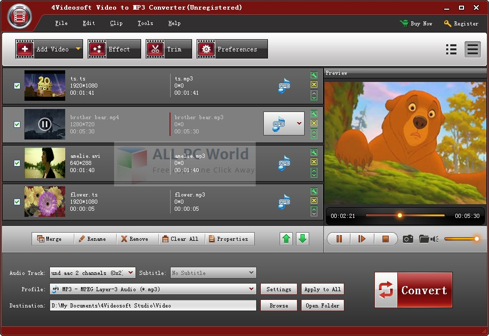 4Videosoft Video to MP3 Converter Review
