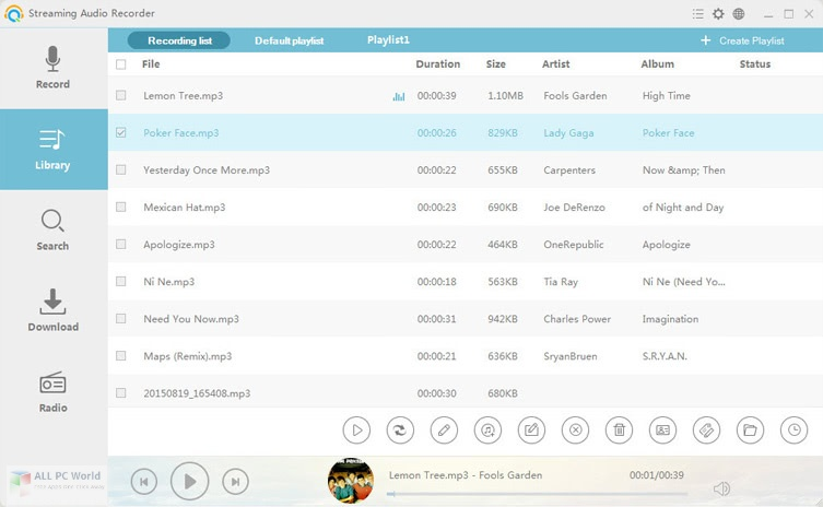 Apowersoft Streaming Audio Recorder 4.3.5 for Windows