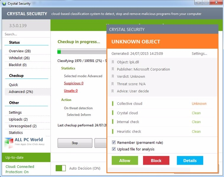 Crystal Security 3.5.0.195 User Interface