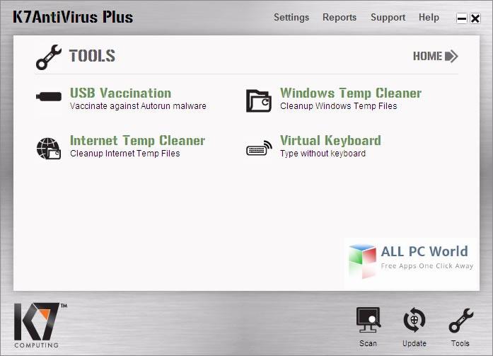 K7AntiVirus Premium 15.1 User Interface