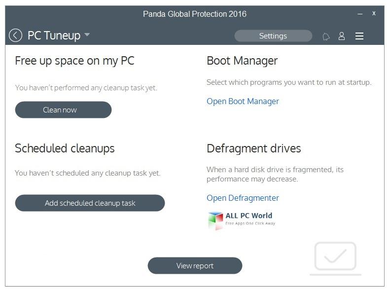 Panda Global Protection 2016 User Interface