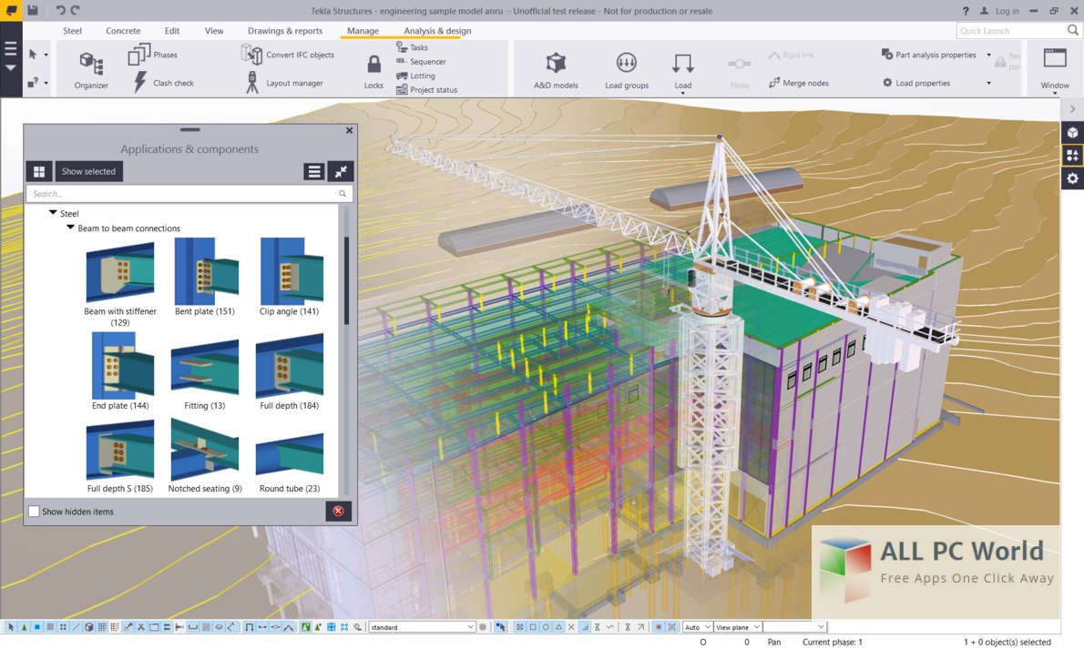Tekla Structures SR3 User Interface