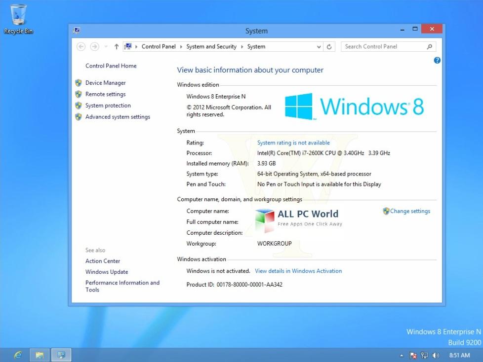 Windows8 Enterprise RTM Build 9200 User Interface