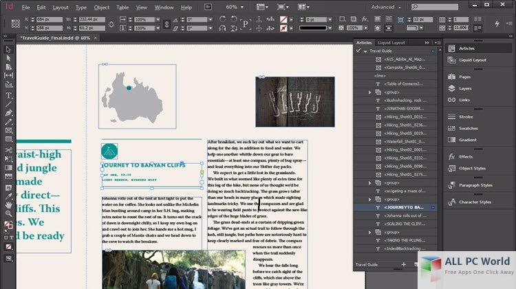 Adobe InDesign CC 2017 User Interface