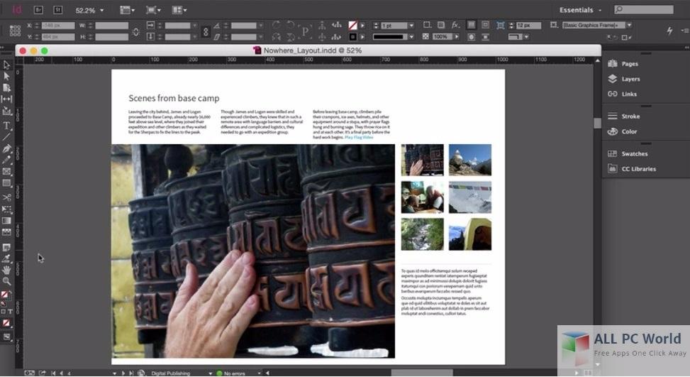 Portable Adobe InDesign CC 2015 User Interface