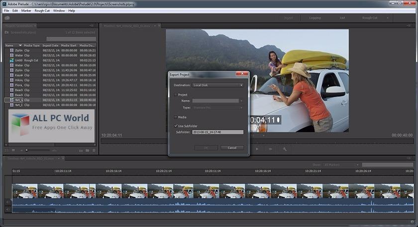 Download Adobe Prelude CC 2017 DMG Image for Mac