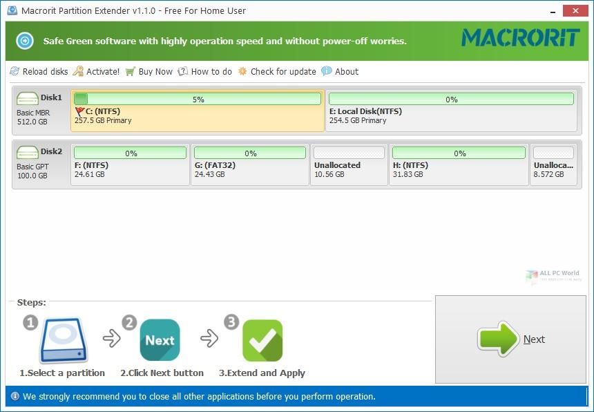 Macrorit Partition Extender 2021 Free Download