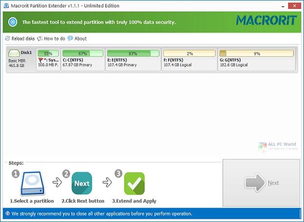 Macrorit Partition Extender 2021 Offline Setup