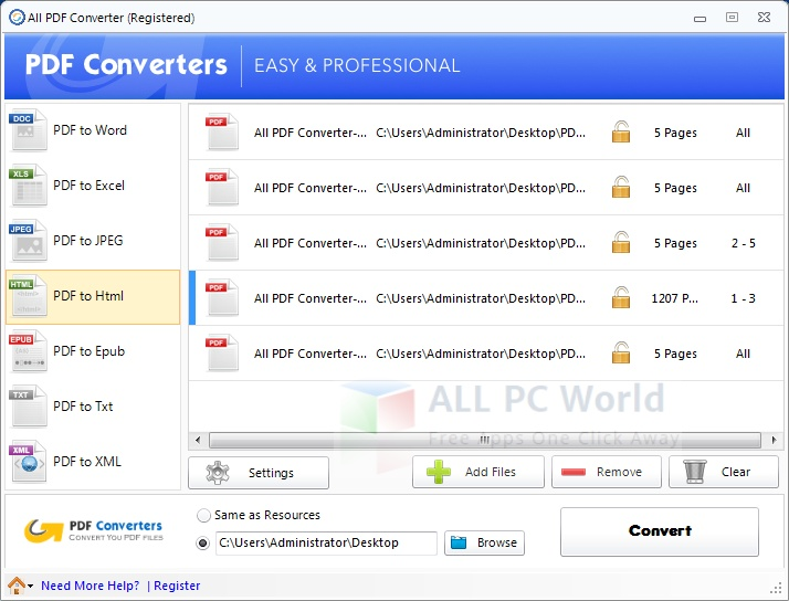 All PDF Converter Review