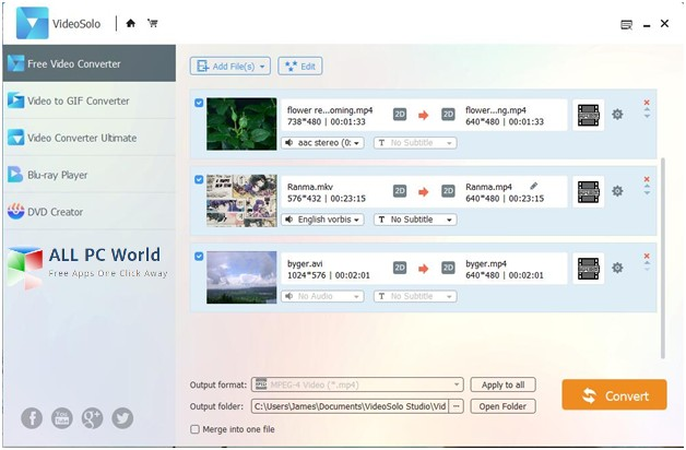 VideoSolo Free Video Converter Review