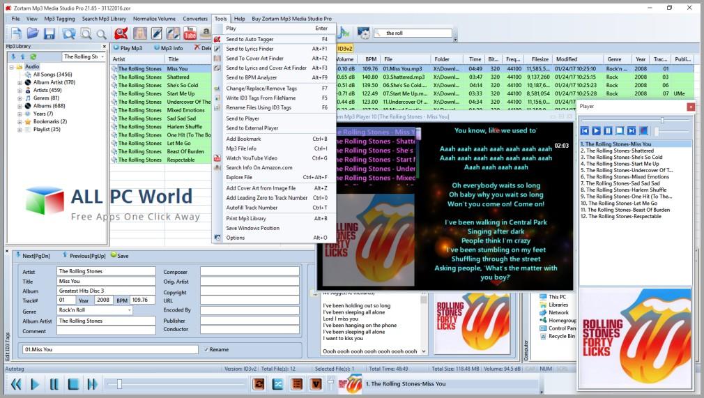 Zortam Mp3 Media Studio Pro Free Download