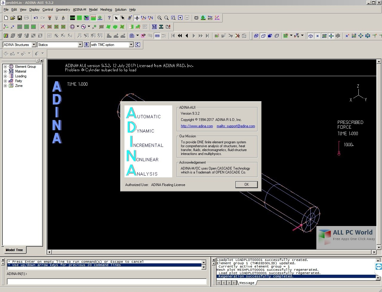 ADINA System 9.3.2 Review