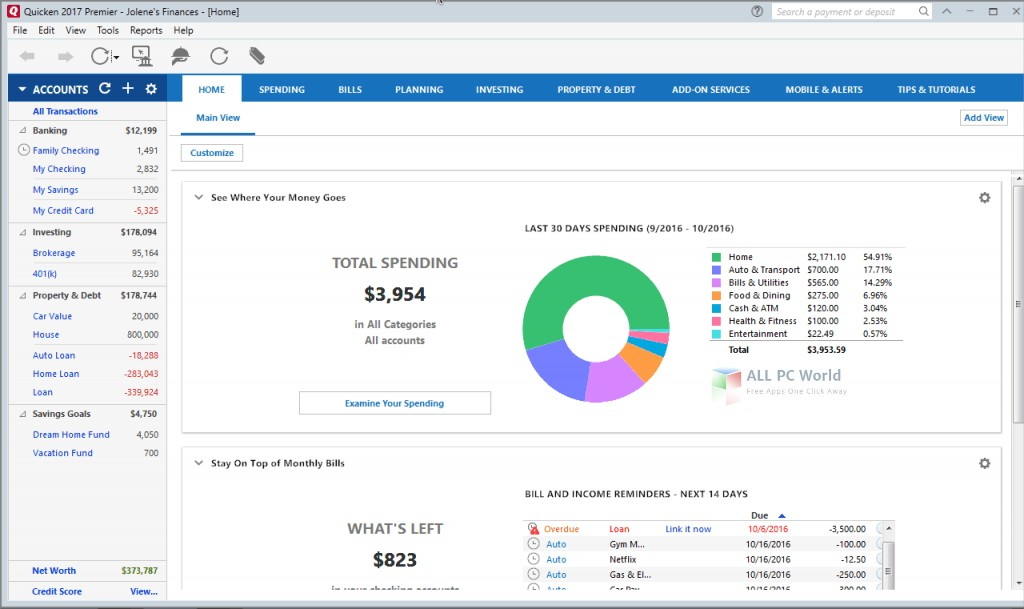 Intuit Quicken Home & Business 2017 Professional Review
