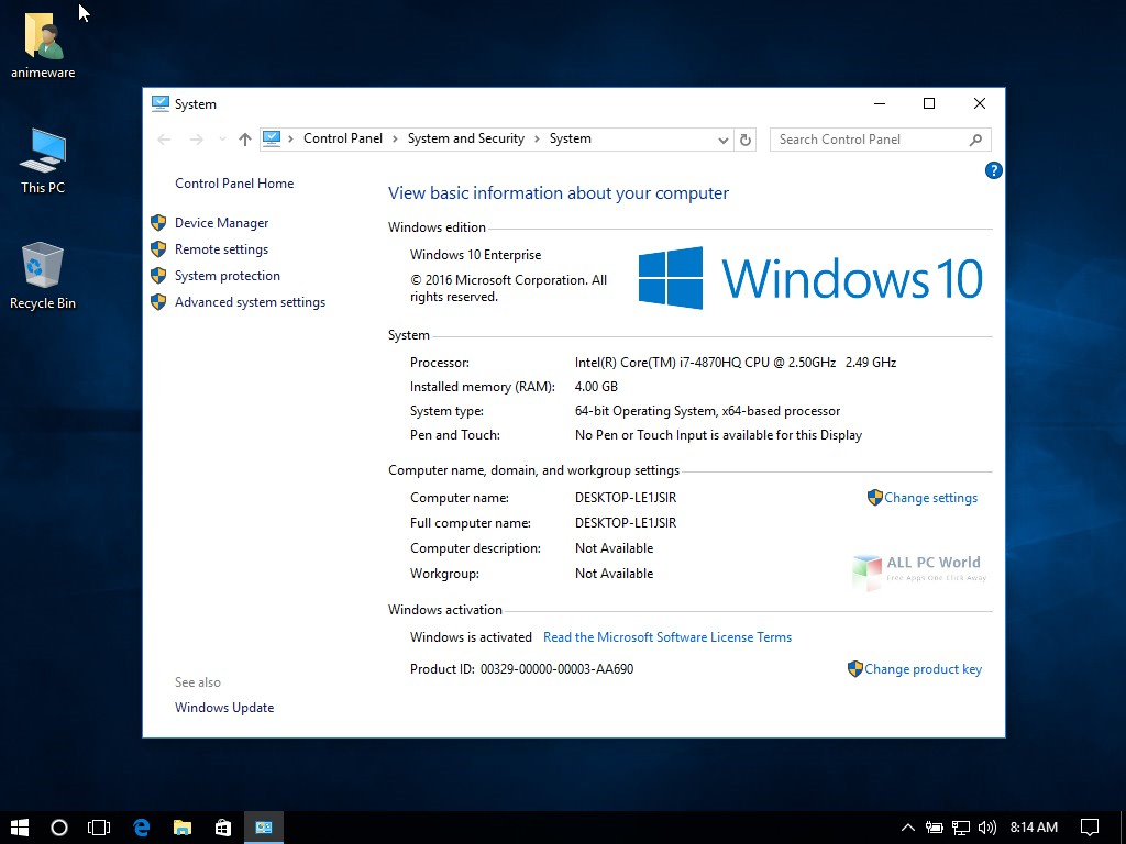 Microsoft Windows 10 Enterprise 1709 Review