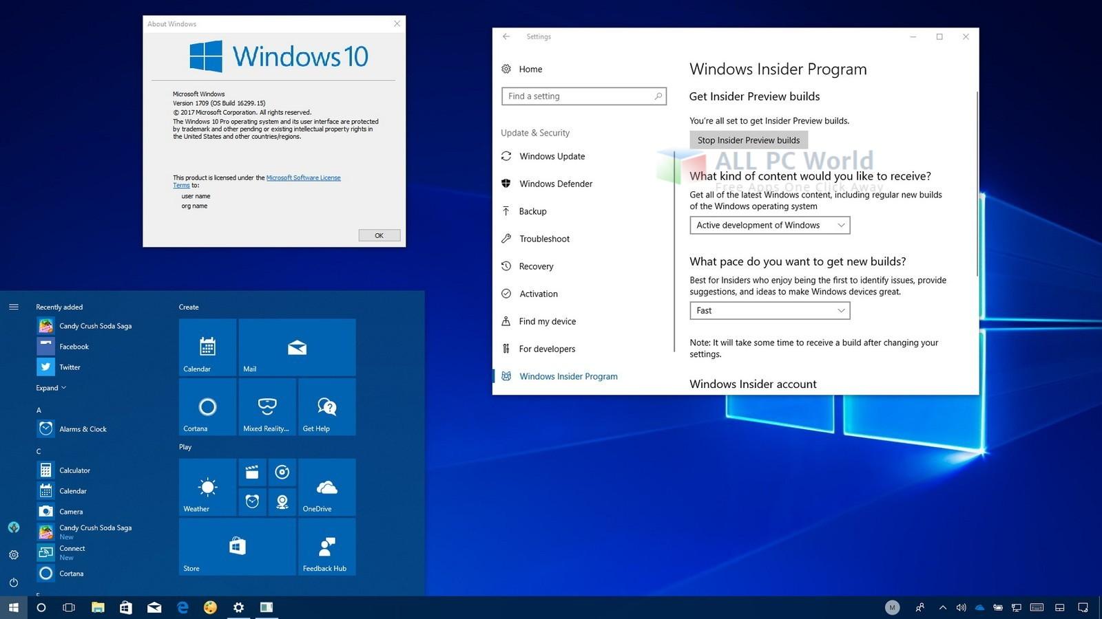 Windows 10 Pro v.1709 Offline Installer