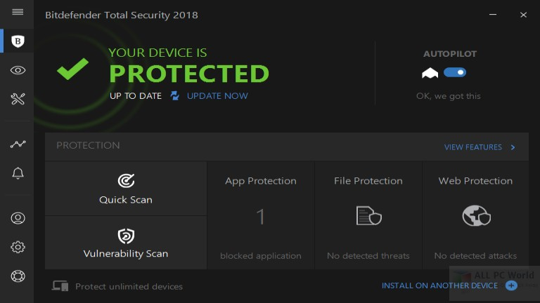 Bitdefender Total Security 2018 with Antivirus and Internet Security Review