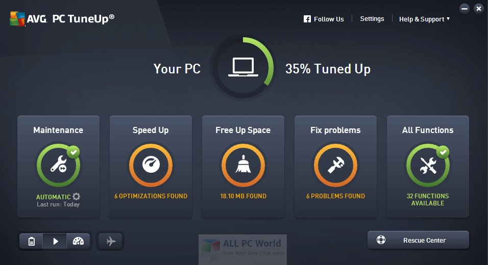 Download AVG PC TuneUp 2018 16.7