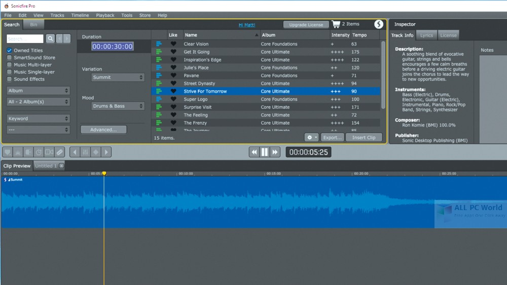 Download SmartSound Sonicfire Pro 6.0