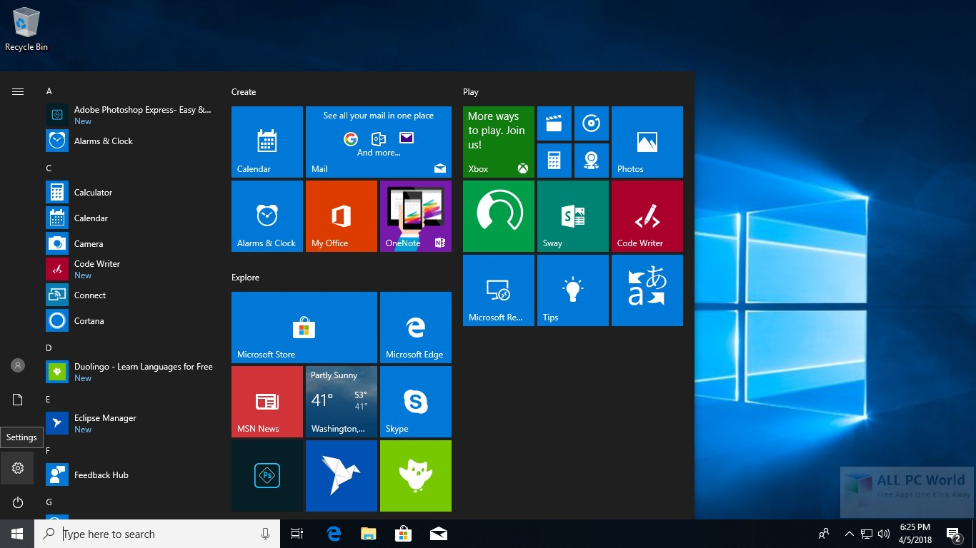 Download Windows 10 Pro 1803 RS4 x64 Free