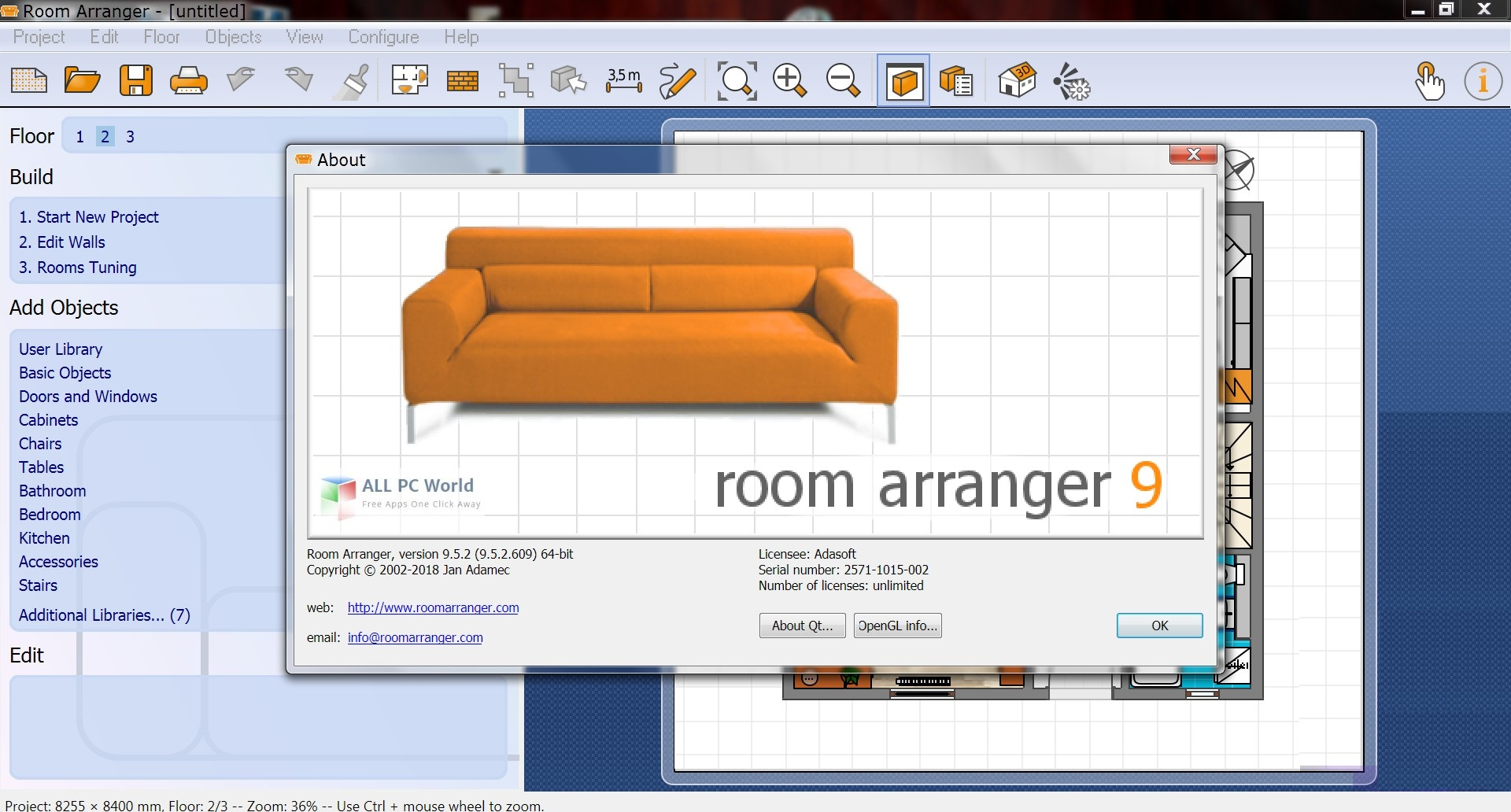 Room Arranger 9.6 Free Download