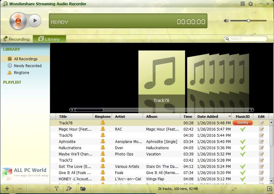 Wondershare Streaming Audio Recorder 2.3 Free Download