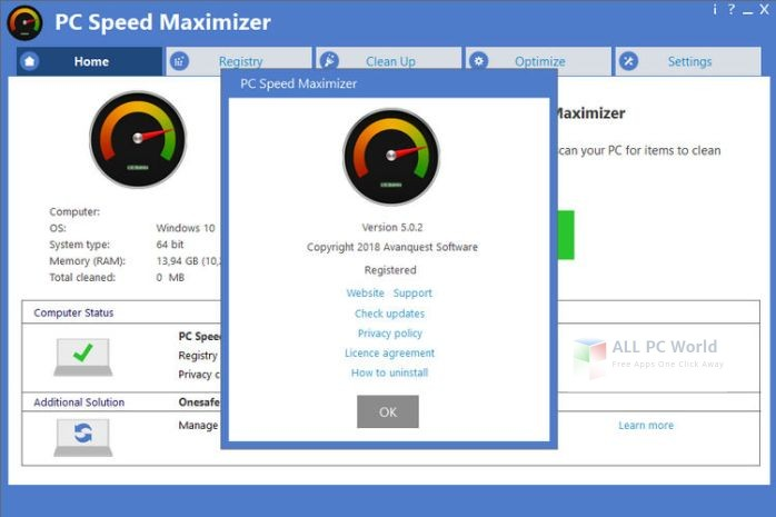 Avanquest PC Speed Maximizer 5.0 Free Download