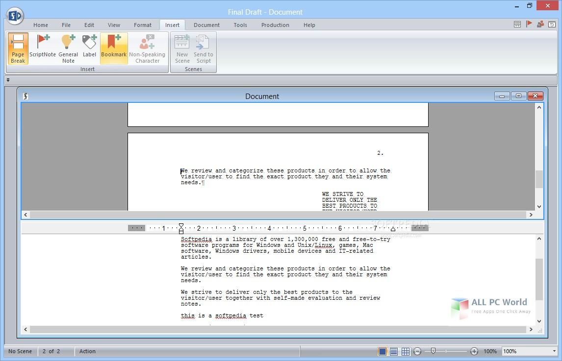 Final Draft 10.0.6 Free Download