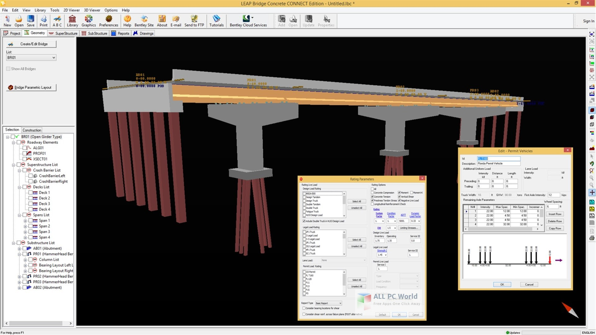 Bentley LEAP Bridge Concrete CONNECT Edition 18.0 Free Download