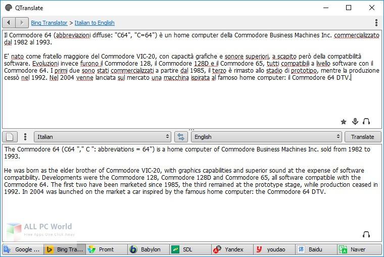 QTranslate 6.5 Free Download