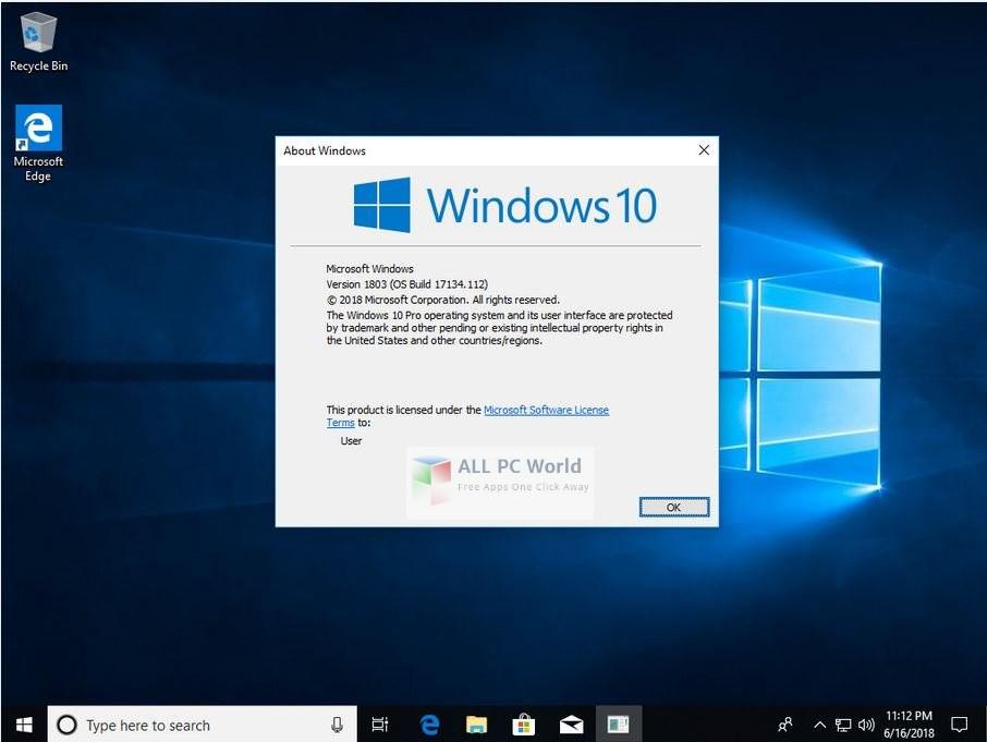 Windows 10 Pro X64 Redstone 4 JUNE 2018 Free Download