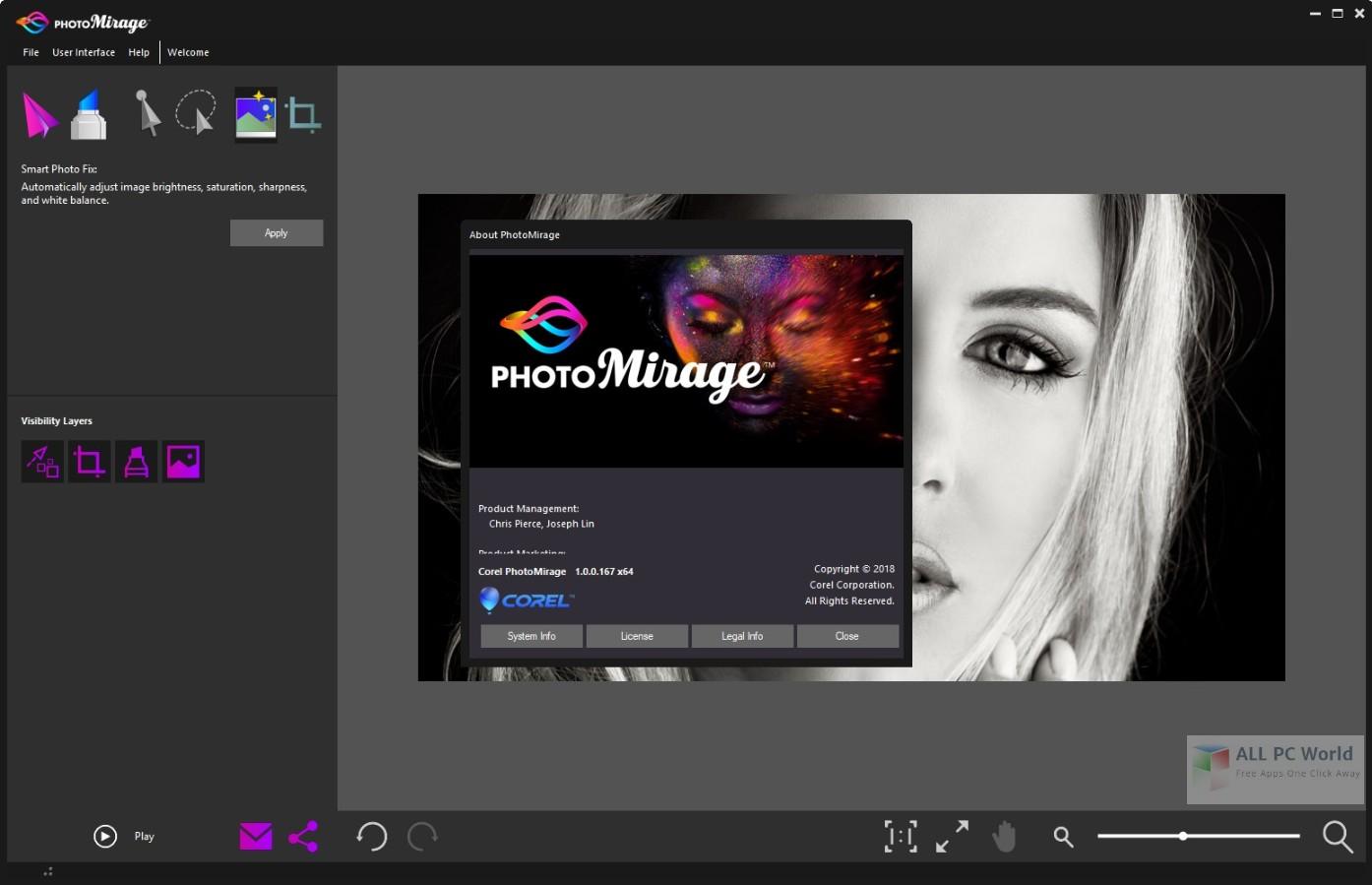 Corel PhotoMirage 1.0 Free Download