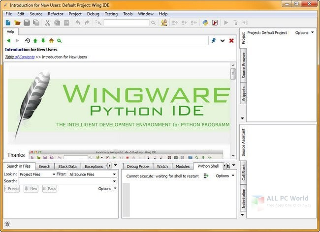 Wingware Wing IDE Professional 6.1.0 Free Download