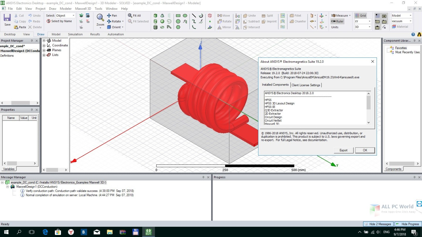 ANSYS Electronics Suite 19.2