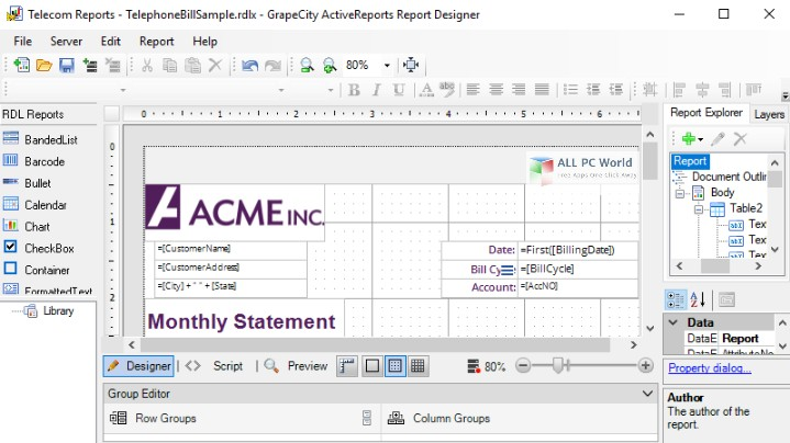 Grapecity ActiveReports 12.2 Free Download