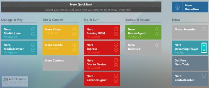 Nero 2019 Platinum Suite 20.0 Free Download