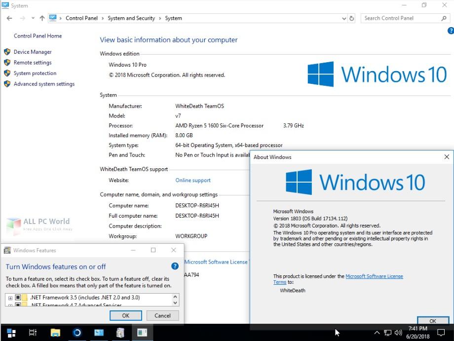 Windows 10 Lite Edition V7 2018