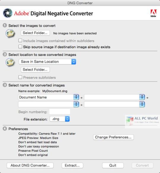 Adobe DNG Converter 11.0