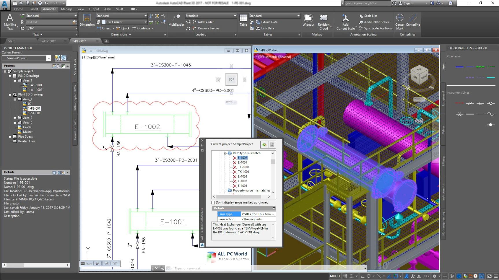 AutoCAD Plant 3D 2019 Free Download