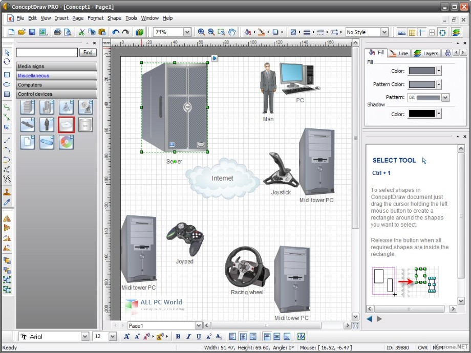 ConceptDraw Office Pro 8.0 Free Download