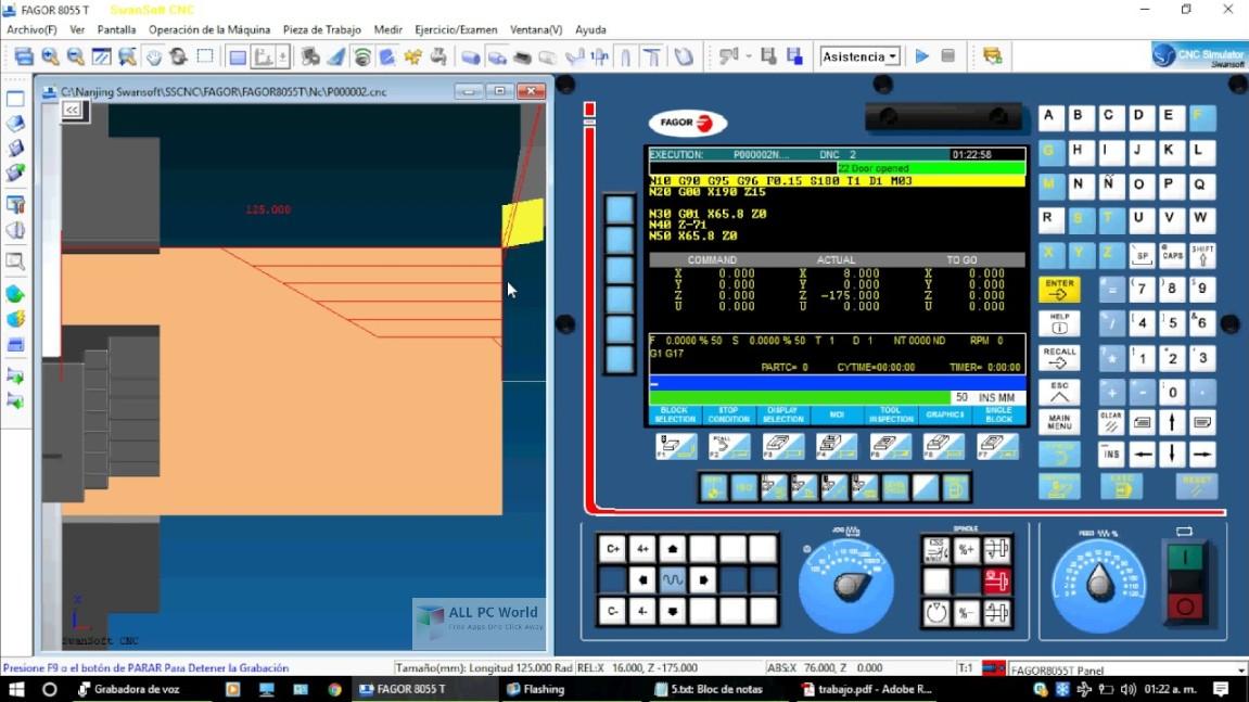 Nanjing Swansoft CNC Simulator 7.2