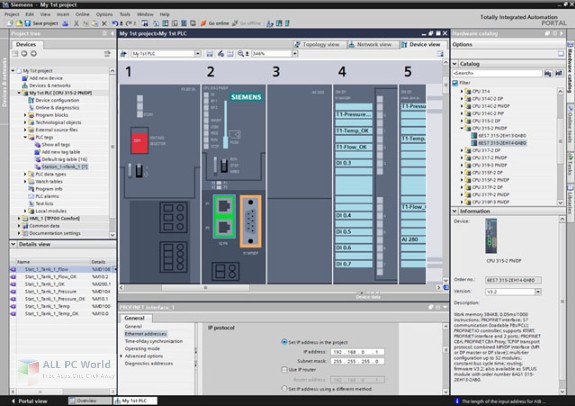 Siemens SIMATIC STEP 7 Professional and WinCC Advanced v15 Free Download