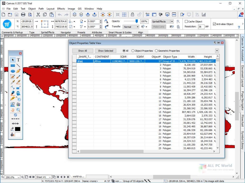 ACD Systems Canvas X GIS 2019 Free Download