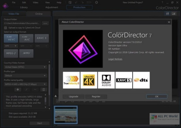 CyberLink ColorDirector Ultra 7.0