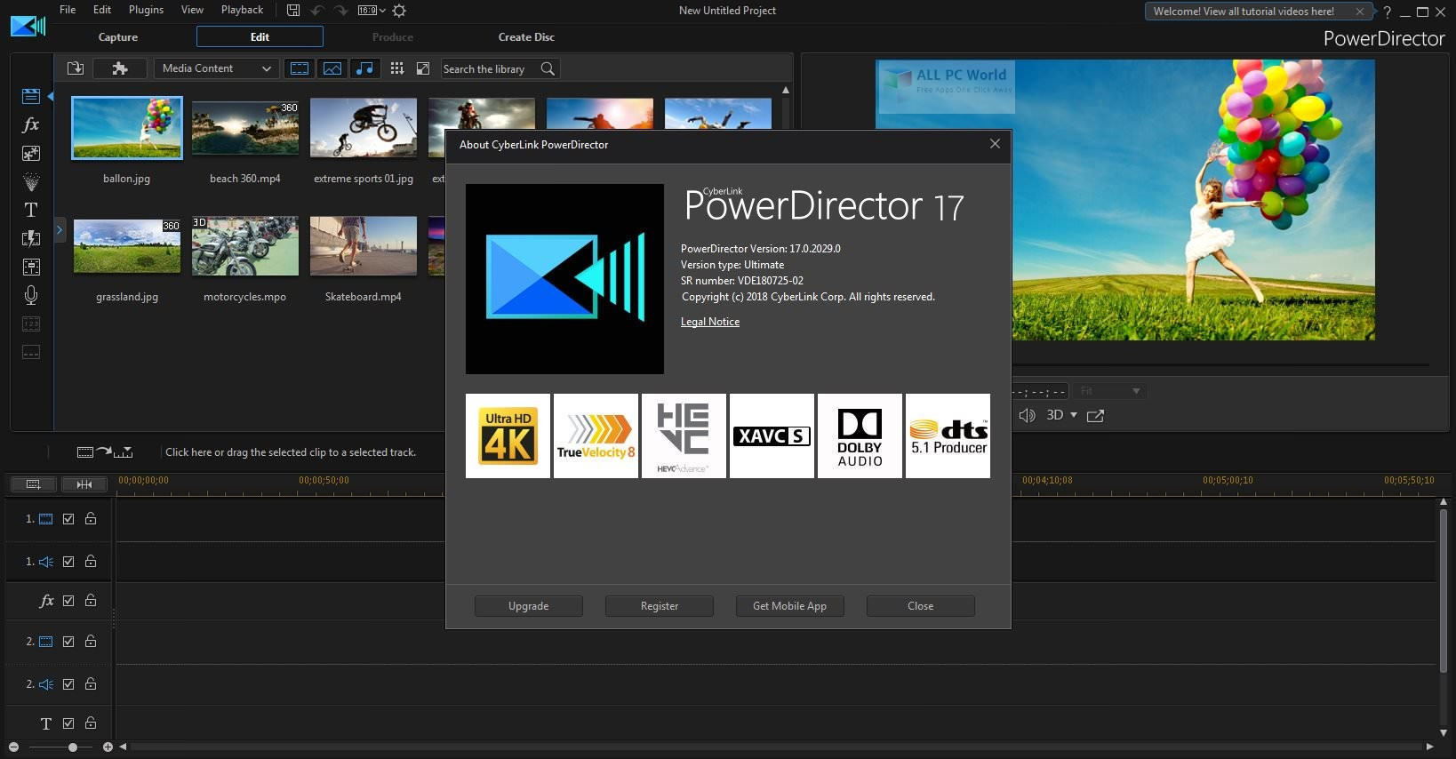 CyberLink PowerDirector Ultimate 17.0 Free Download